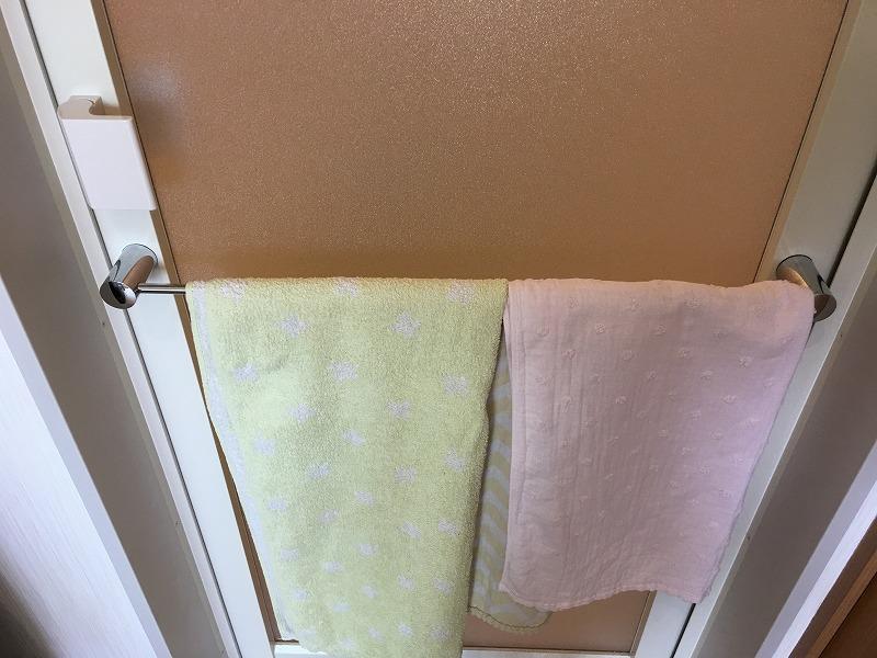 浴室_片開戸用タオル掛け