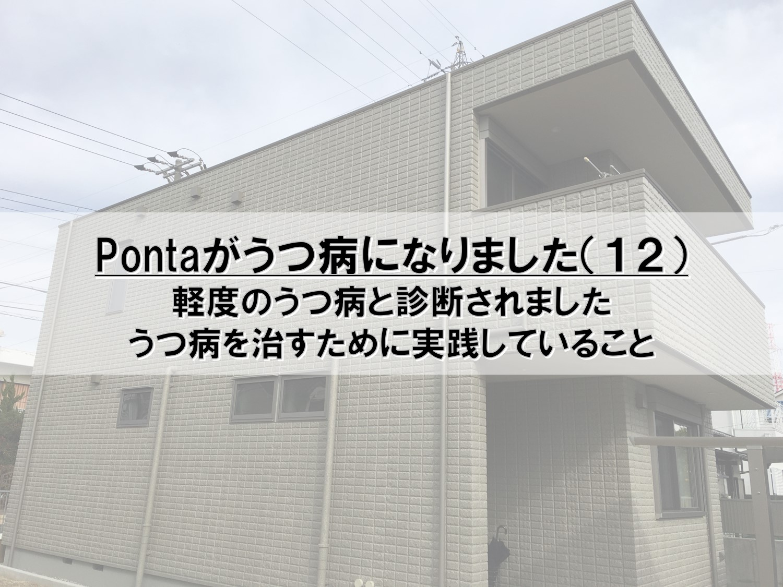 Pontaがうつ病になりました(12)_軽度のうつ病と診断されました_うつ病を治すために実践していること